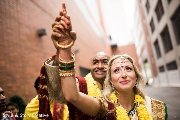 Wedding Portrait in Columbus, OH Indian Fusion Wedding by Style & Story Creative