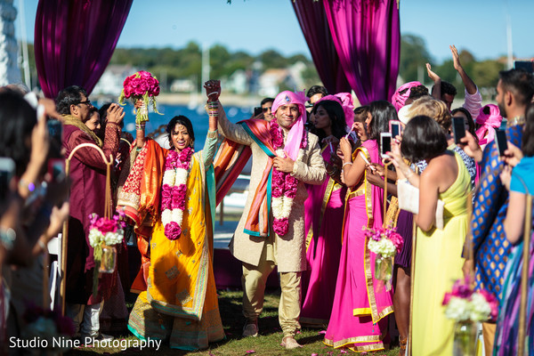 Ceremony in Newport, RI Indian Wedding by Studio Nine Photography + Cinema