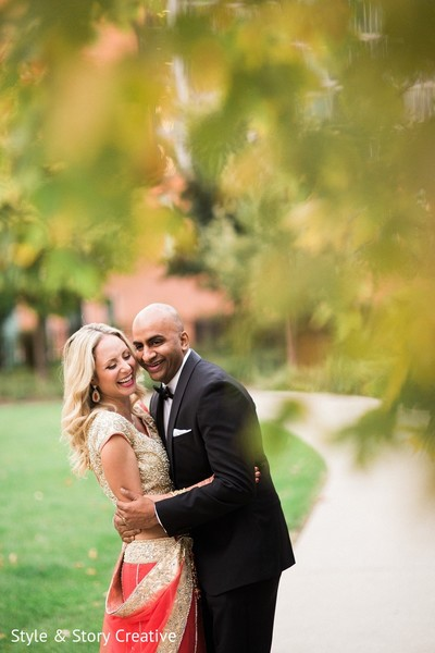 Reception Portrait in Columbus, OH Indian Fusion Wedding by Style & Story Creative