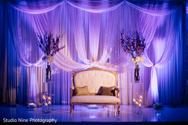 Sweetheart stage in Newport, RI Indian Wedding by Studio Nine Photography + Cinema