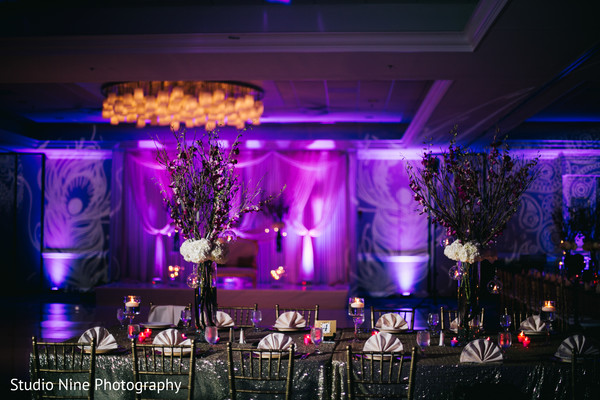 Reception decor in Newport, RI Indian Wedding by Studio Nine Photography + Cinema