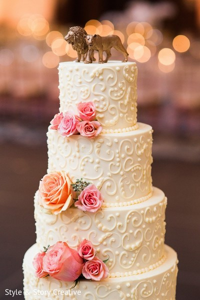Wedding Cake & Toppers in Columbus, OH Indian Fusion Wedding by Style & Story Creative