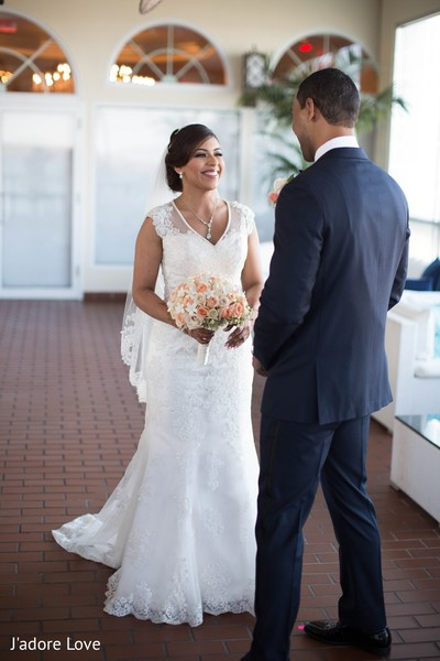 First Look in New Rochelle, NY South Asian Wedding by J'adore Love