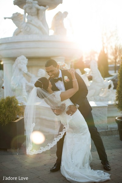 Wedding Portrait in New Rochelle, NY South Asian Wedding by J'adore Love