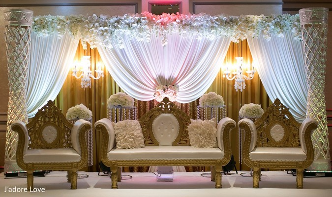 Ceremony Decor in New Rochelle, NY South Asian Wedding by J'adore Love