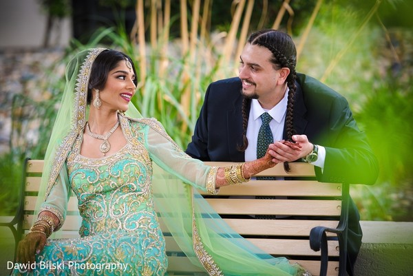 First Look in Newark, CA South Asian Wedding by Dawid Bilski Photography