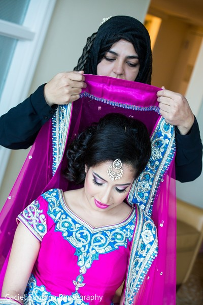 Getting Ready in West Palm Beach, FL Indian Wedding by Gaciel Santana Photography