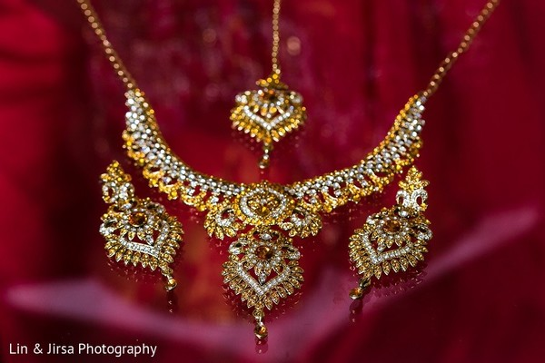 Bridal Jewelry in Rancho Palos Verdes, CA Indian Wedding by Lin & Jirsa Photography