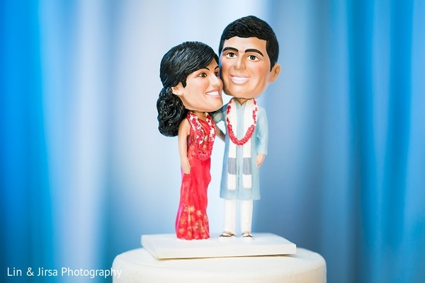 Cake Topper in Rancho Palos Verdes, CA Indian Wedding by Lin & Jirsa Photography