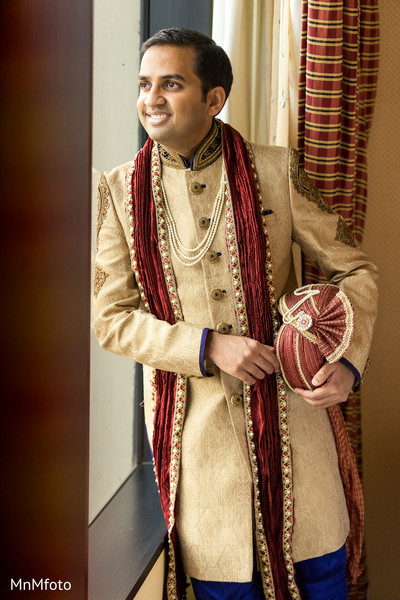 Groom Fashion in Forth Worth, TX Indian Wedding by MnMfoto