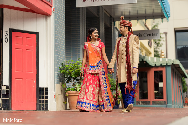 First Look in Forth Worth, TX Indian Wedding by MnMfoto