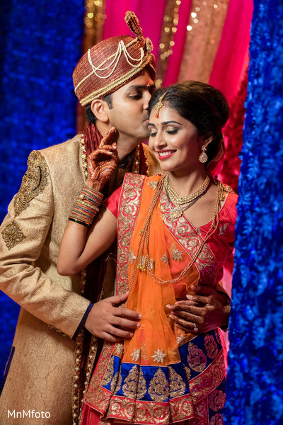 Wedding Portrait in Forth Worth, TX Indian Wedding by MnMfoto