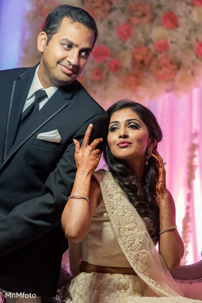 Reception Portrait in Forth Worth, TX Indian Wedding by MnMfoto