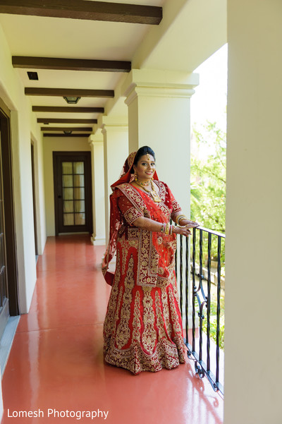 Portrait of indian bride in San Antonio, TX Indian Wedding by Lomesh Photography