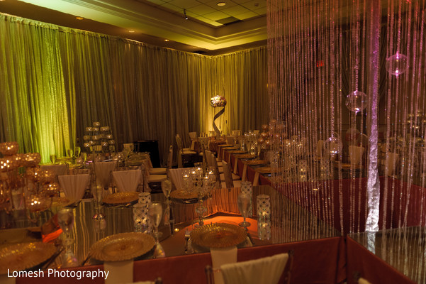 Indian wedding reception floral and decor in San Antonio, TX Indian Wedding by Lomesh Photography