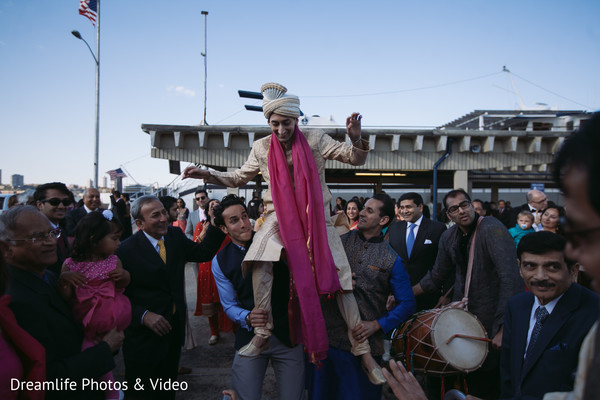 Baraat in New York, NY Indian Wedding by Dreamlife Photos & Video