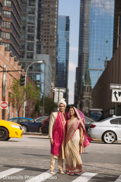 Indian wedding portrait in New York, NY Indian Wedding by Dreamlife Photos & Video
