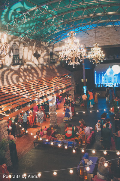 sangeet,sangeet night,pre-wedding celebration,lighting,chandeliers,pre-wedding lighting