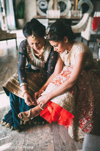 Getting Ready in Scottsdale, AZ Hindu-Jewish Wedding by Portraits By Andra