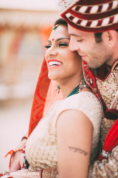 Wedding Portrait in Scottsdale, AZ Hindu-Jewish Wedding by Portraits By Andra