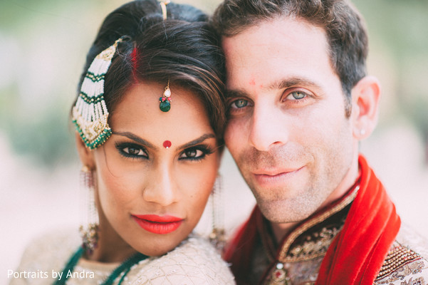 fusion wedding,indian fusion wedding,wedding portrait,makeup,jhoomar