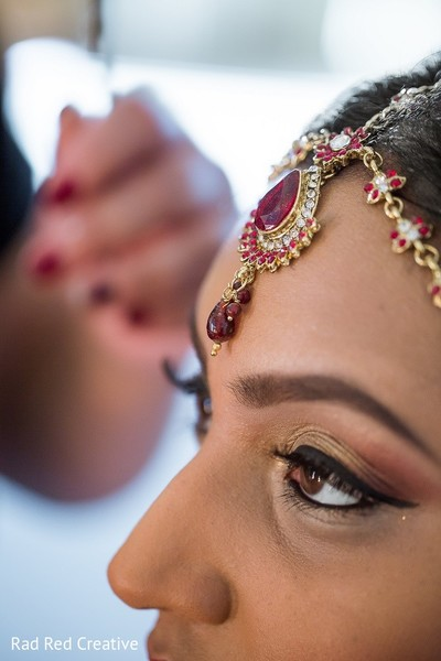 Bridal Jewelry & Makeup in Tampa, FL Hindu-Christian Fusion Wedding by Rad Red Creative