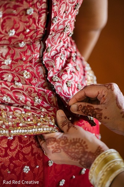 Getting Ready in Tampa, FL Hindu-Christian Fusion Wedding by Rad Red Creative