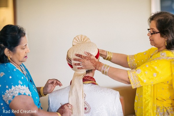 Groom Getting Ready in Tampa, FL Hindu-Christian Fusion Wedding by Rad Red Creative