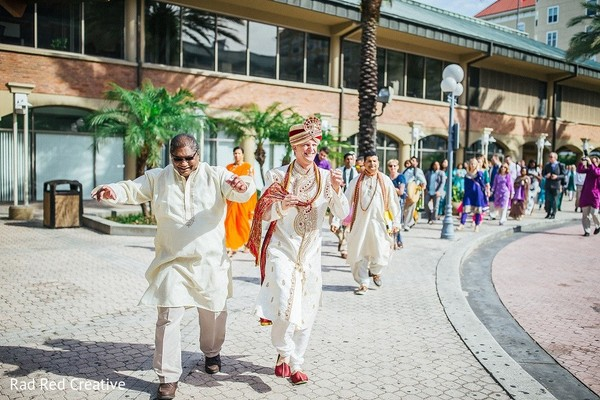 Baraat in Tampa, FL Hindu-Christian Fusion Wedding by Rad Red Creative