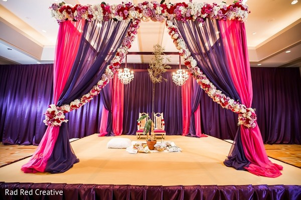 Mandap in Tampa, FL Hindu-Christian Fusion Wedding by Rad Red Creative