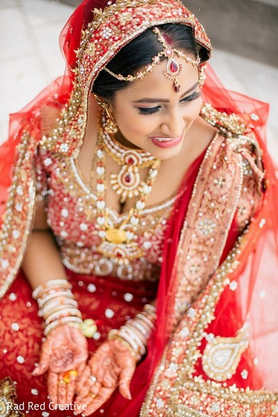 Bridal Portrait in Tampa, FL Hindu-Christian Fusion Wedding by Rad Red Creative