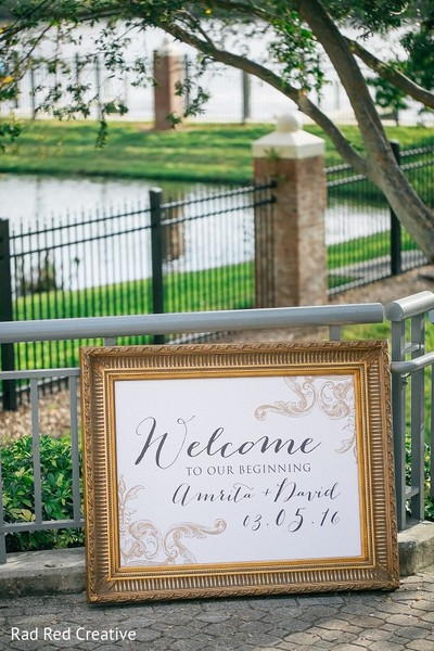 Signage in Tampa, FL Hindu-Christian Fusion Wedding by Rad Red Creative