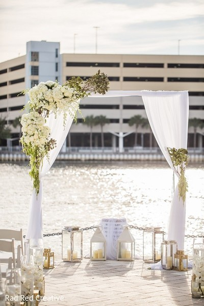 Ceremony Decor in Tampa, FL Hindu-Christian Fusion Wedding by Rad Red Creative