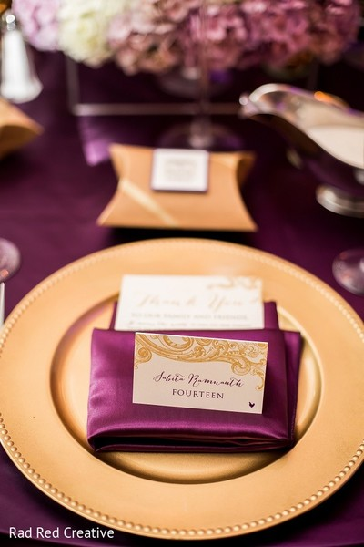 Escort Cards & Place Settings in Tampa, FL Hindu-Christian Fusion Wedding by Rad Red Creative