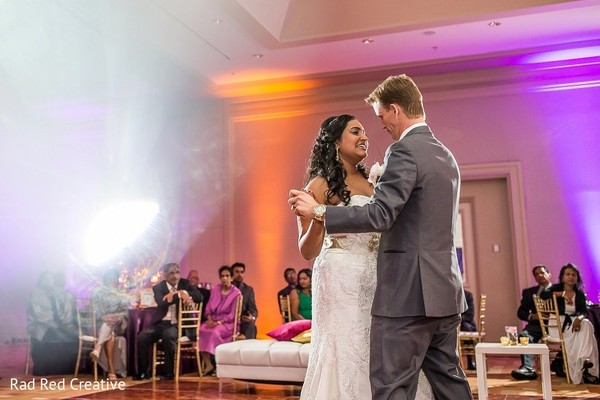 Reception in Tampa, FL Hindu-Christian Fusion Wedding by Rad Red Creative
