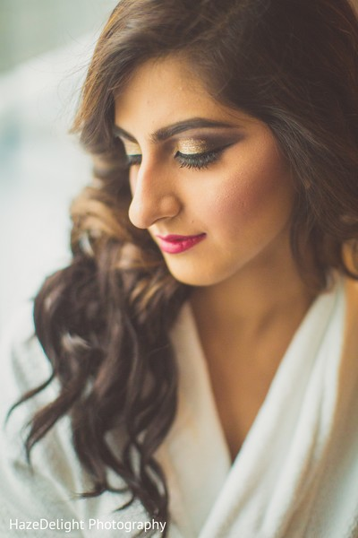 Indian bridal hair and makeup in Miami, FL Indian Wedding by HazeDelight Photography