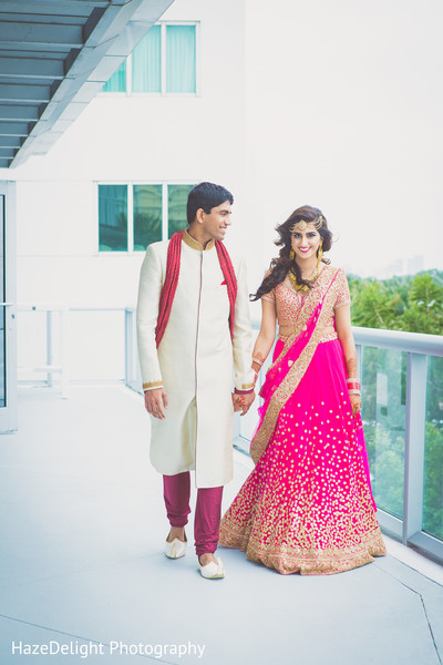 Indian reception portraits in Miami, FL Indian Wedding by HazeDelight Photography