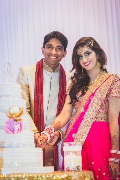 Indian wedding reception in Miami, FL Indian Wedding by HazeDelight Photography