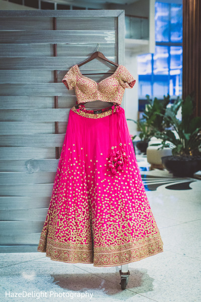 Reception fashion in Miami, FL Indian Wedding by HazeDelight Photography