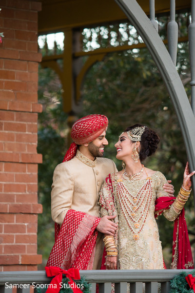 Indian first look portraits in Phoenix, AZ Pakistani Wedding by Sameer Soorma Studios