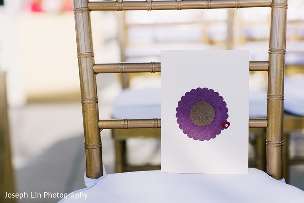Ceremony Decor & Programs in Jersey City, NJ Indian Wedding by Joseph Lin Photography