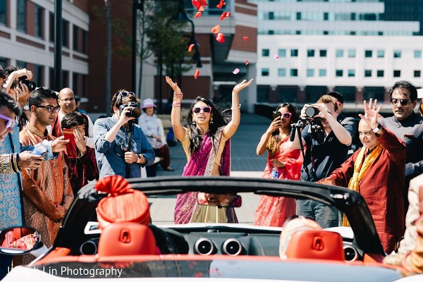 Vidaai Ceremony in Jersey City, NJ Indian Wedding by Joseph Lin Photography