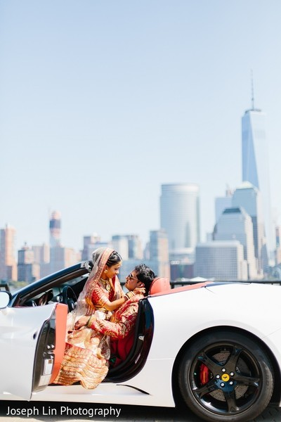 Wedding Portrait in Jersey City, NJ Indian Wedding by Joseph Lin Photography