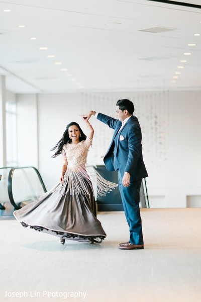 Reception Portrait in Jersey City, NJ Indian Wedding by Joseph Lin Photography