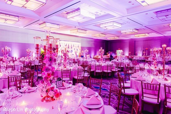 Venue & Lighting in Jersey City, NJ Indian Wedding by Joseph Lin Photography