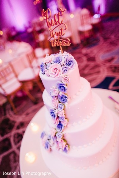 Wedding Cake in Jersey City, NJ Indian Wedding by Joseph Lin Photography