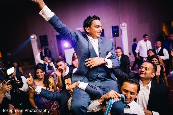 Reception in Jersey City, NJ Indian Wedding by Joseph Lin Photography