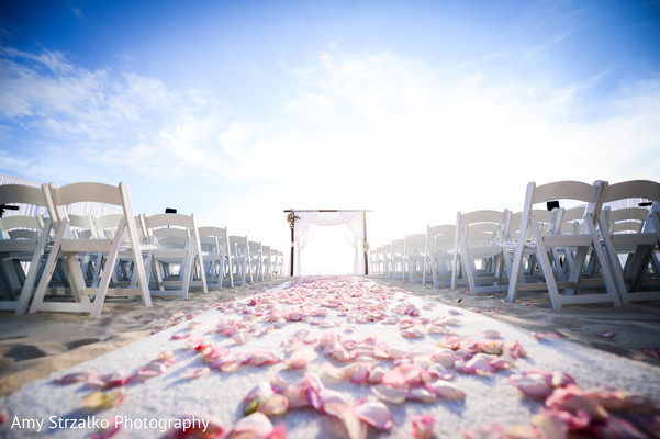 Destination indian wedding ceremony venue in Grand Cayman Destination Indian Wedding by Amy Strzalko Photography