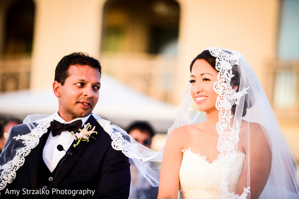 Indian fusion wedding ceremony in Grand Cayman Destination Indian Wedding by Amy Strzalko Photography