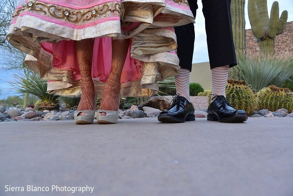 Reception Portrait in Scottsdale, AZ Indian Wedding by Sierra Blanco Photography